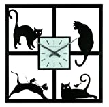 Ashton Sutton Wall Clock, Four Cats