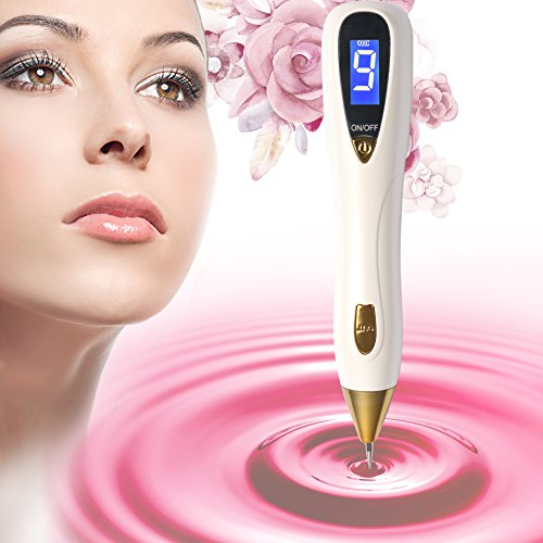 [2018 Upgraded] Mole Removal Pen–Skin Tag Remover Kit with 9 Adjustable Modes&LED Light, LCD Display Spot Eraser Pro for Tattoo Nevus Freckles Birth Mark with USB Charging&Replaceable (Skin Eraser)
