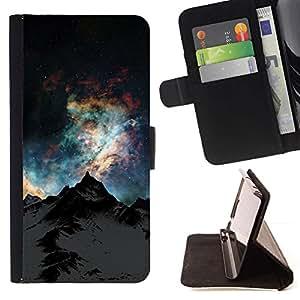 For Sony Xperia Z1 L39 Case , Naturaleza Hermosa Forrest Verde 172- la tarjeta de Crédito Slots PU Funda de cuero Monedero caso cubierta de piel