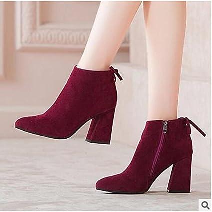 4e5f495b1b5 Amazon.com: ZHZNVX HSXZ Women's Shoes PU Spring Fall Comfort Boots ...
