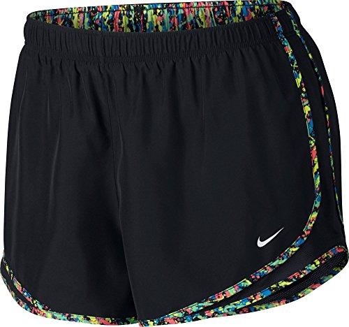 Nike Womens Tempo Corto Nero Multi Striscia