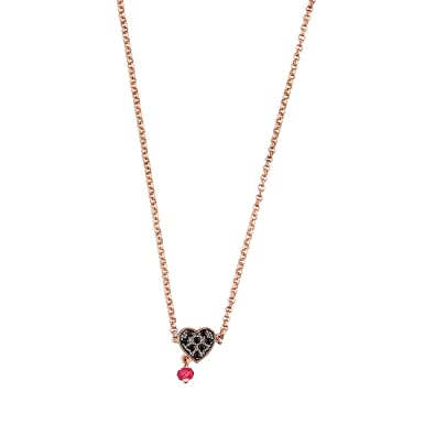 413ca5d681009 TOUS Black Spinel and Ruby Heart Necklace