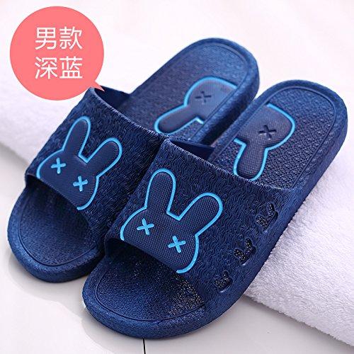 fankou cartoon home scuro cool da antiscivolo bagno pantofole scarpe donna carino coppie Uomini blu 48 estate spiaggia pantofole zrETAnIqr