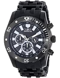 Men's 14862 Sea Spider Analog Japanese-Quartz Black Watch