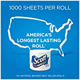 Scott 1000 Sheets Per Roll Toilet Paper, 27 Rolls, Sewer-Safe, Septic-Safe, 1-Ply Bath Tissue, Americas Longest Lasting Roll