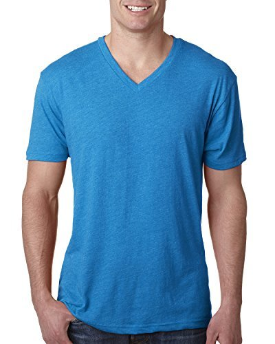 Next Level Men's Triblend Vee Tee - Vintage Turquoise 6040 M