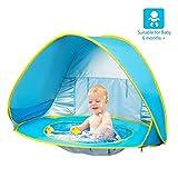 FBSPORT Beach Tent, UV Protection Pop Up Sun Shelter Lightweight Beach Sun Shade Canopy Cabana Beach Tents Fit 2-3 Person