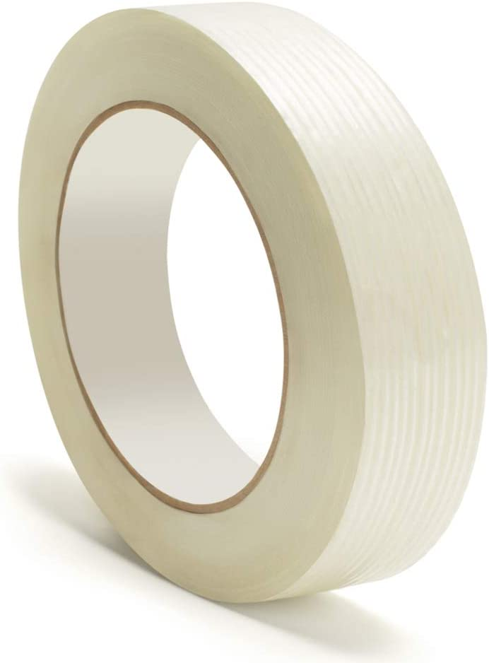 24 Pack 3//4 Inch x 60 Yards Filament Reinforced Tape Rolls 4.0 Mil Thick Clear Heavy Duty Packing Tape