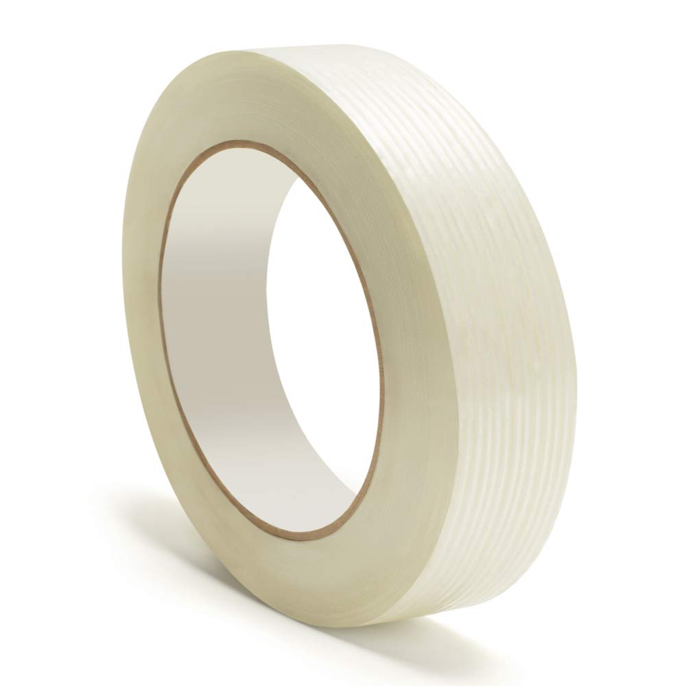 Heavy Duty Packing Tape, Filament Reinforced Tape Rolls, 4.0 Mil Thick, Clear, 3/4 Inch x 60 Yards, 24 Pack by PackagingSuppliesByMail