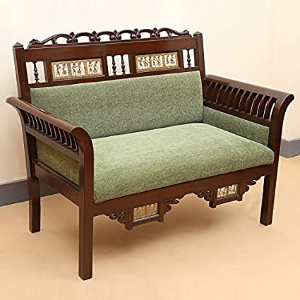 Maharaja Style Wooden Handicrafted Embossed Sofa Set With Center
