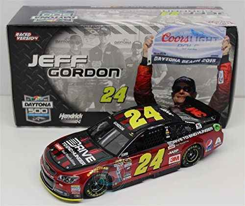NASCAR Jeff Gordon #24 Daytona 500 Pole 2015 Cup Series Diecast Car, 1/24 1:24 Scale ARC Limited Edition Hood Opens Trunk Opens HOTO ()