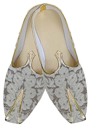 INMONARCH Hombres Plata Novio Zapatos de Boda MJ0022