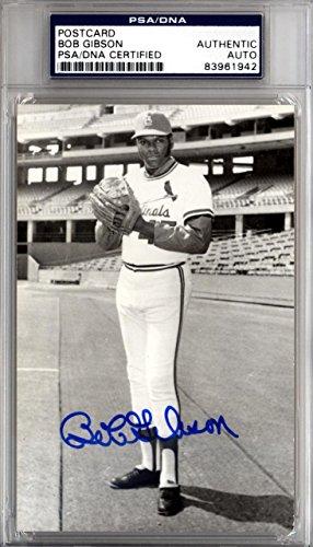 Bob Gibson Autographed Signed 3.5x5.5 Postcard St. Louis Cardinals #83961942 PSA/DNA Certified MLB Cut Signatures