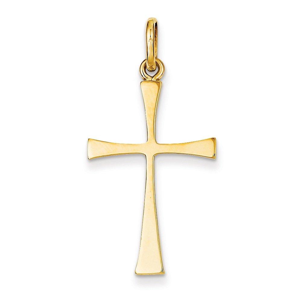 Lex /& Lu 14k Yellow Gold Polished Cross Pendant LAL76990