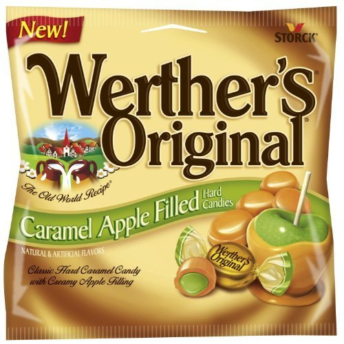 Apple Caramel Candy - Werthers Caramel Apple Filled Hard Candies (2.65 Oz) 6 Bags
