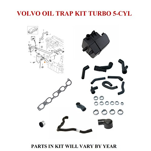 Volvo Turbo Oil - OIL TRAP KIT FOR VOLVO 5-CYLINDER TURBO 2004-2007 S60 S80 V70 XC70 XC90 SEE APPLICATIONS 8692211