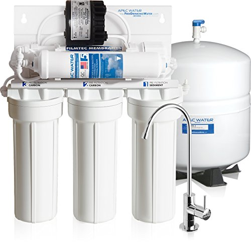 APEC Top Tier Supreme High Efficiency Permeate Pumped Ultra Safe Built in USA Reverse Osmosis Drinking Water Filter System For Low Pressure Homes (ULTIMATE RO-PERM)