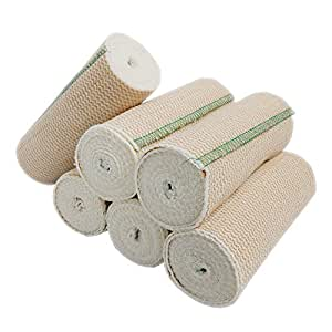 Spa Slender Body Wrap Elastic Bandages Latex Free (Pack of 6)