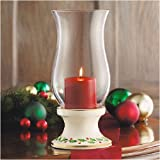Lenox Holiday Hurricane w/Pillar Candle