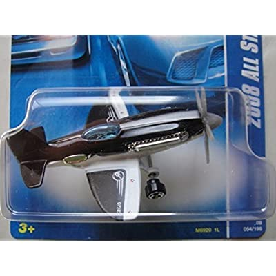Hot Wheels 2008 All Stars Mad Propz (Airplane) 54/196, Black, White and Silver: Toys & Games