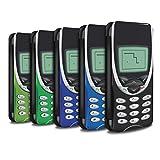 STUFF4 PU Leather Wallet Flip Case/Cover for Apple iPhone 8 Plus / Nokia 8210 Multipack Design / Retro Phones Collection