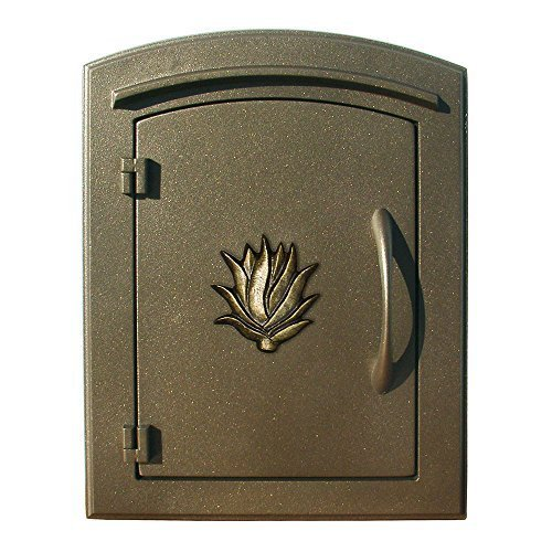 Qualarc MAN-1406-BZ Manchester Column Mount Mailbox with Decorative AGAVE Logo in Bronze by Qualarc by Qualarc