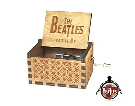 Cuzit Caja de Música, Diseño de The Beatles, Tallado Antiguo, Regalo de Navidad