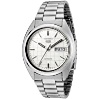 Seiko Men's 5' Japanese Automatic Stainless Steel Casual Watch, Color:Silver-Toned (Model: SNXF05)