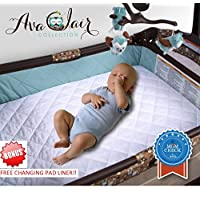 ACC Pack N Play Crib Mattress Pad Cover Plus Bonus Changing Pad Liner, Waterp...