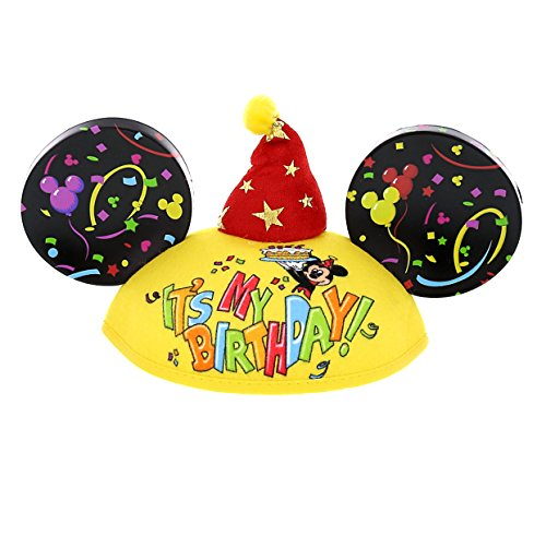 Disney Parks Exclusive Mickey Mouse Happy Birthday Ears Hat Exclusive Mickey Mouse