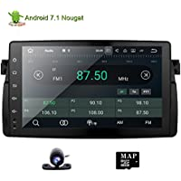 Car Stereo GPS Navigation System Android 7.1 Double Din Radio for BMW E46 M3 9 inch Touch Screen Bluetooth FM AM RDS WIFI USB SD Mirror Link 3G OBD Canbus Rear Camera