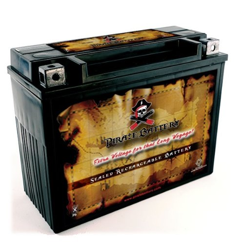 Pirate Battery YTX20H-BS High Performance-Maintenance Free-Sealed AGM Motorcycle Battery Chrome Battery