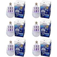 Kit 6 Lampada Led 15w Mata Mosquito Insetos Branco Bocal E27