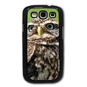 Cute Owl Portrait - Protective Designer BLACK Case - Fits Samsung Galaxy S3 SIII i9300