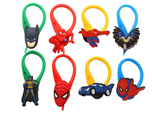 Ventriloquist Costume Boy (AVIRGO 8 pcs Colorful Soft Zipper Pull Charms for Backpack Bag Pendant Jackett Set # 17-4)