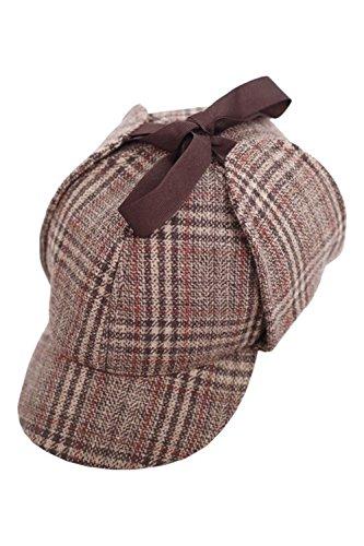 Men's British Style Deerstalkers Cotton Detective Hat by Costume Party Heart
