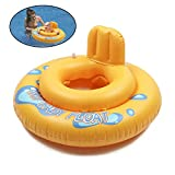 Inflatable Baby Pool Float, Toddler Infant Swimming Ring Safety Swim Floaties With Chair Tube Seat Boat Pool Underarm Floating Float Beach Pool Toys Early Learning Swimming Bath Toy by TiTa-Dong