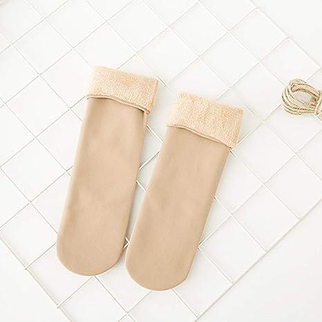 LEACK Cálido Invierno Mujer Espesar Calcetines Suave Forro Polar Forro Medias