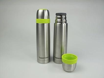 TUPPERWARE termo 500 ml verde café té jarra térmica de acero ...
