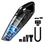 HoLife Handheld Vacuum 4KPA Hand Cordless Cleaner 2200mAh Lithium Battery for Home and Car Cleaning, Black