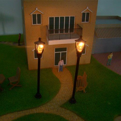 - Kingzer 20pcs HO Scale 6V Model Layout Single Head Garden Lights Lamppost Lamp 1:100
