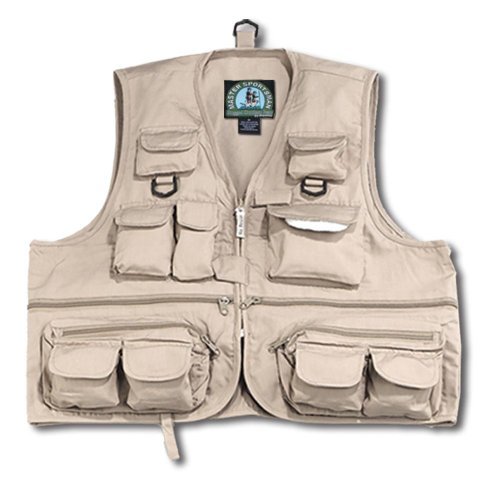 Master Sportsman Youth 26 Pocket Fishing Vest (Khaki, Small)