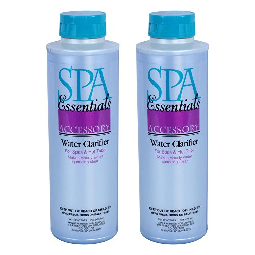 (Spa Essentials 32612000-02 Clarifier for Spas and Hot Tubs (2 Pack), 1 Pint)
