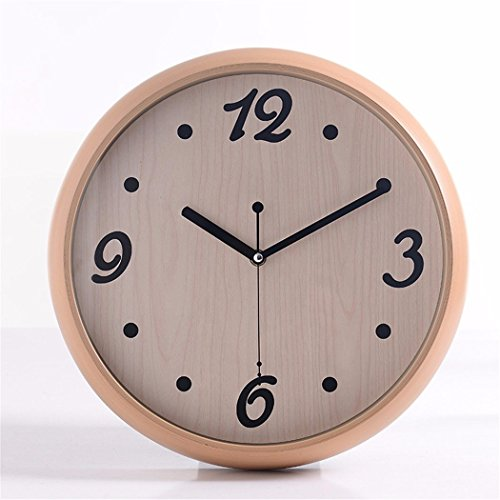 Imoerjia Great Wall Clock Living Room Round Mute Quartz Clock Abs Plastic Material 14 in C