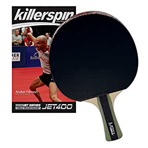 Killerspin JET400 Table Tennis Paddle - Multi-Colour - Ideal Ping Pong Paddle For Intermediate Players with Memory Book