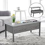 Lift Up Coffee Table HomCom Lift Top Storage Coffee Table - Grey