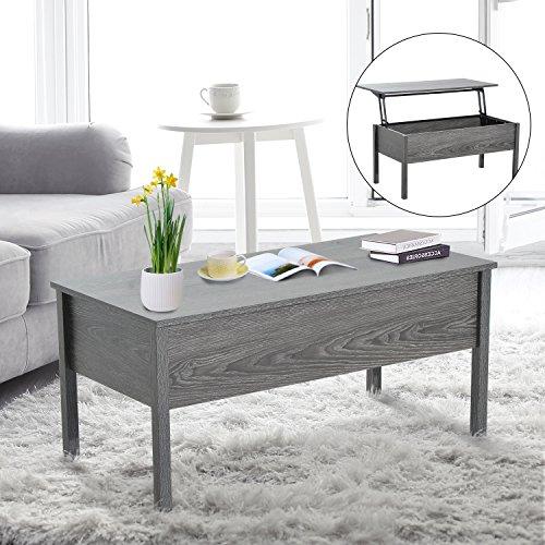HomCom Lift Top Storage Coffee Table - Grey