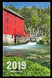 "2019 Weekly Planner: Alley Spring & Grist Mill - Eminence, Missouri - 6"" x 9"" - 2019 Calendar, Planner, & Notebook"