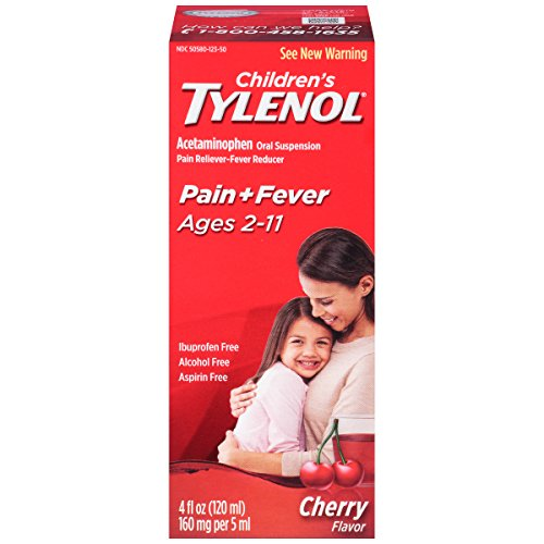 Syrup Cherry Childrens (Tylenol Children's Pain Reliever Syrup, Cherry Blast, 4 0z)