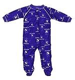 Outerstuff Northwestern Wildcats NCAA Baby Boys Raglan Zip-up Coverall Sleeper, Purple